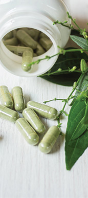 Capsules herbs and minerals